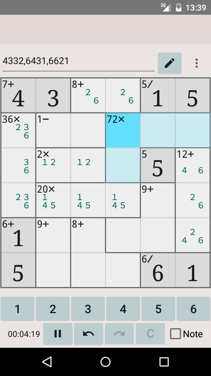 Simple MathDoku