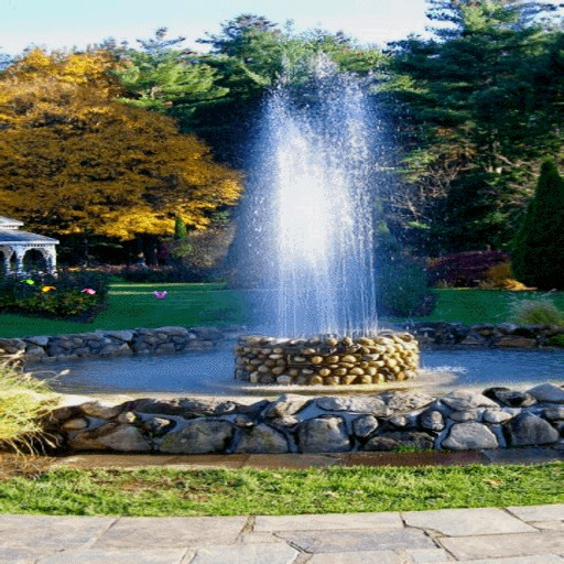 Fountain In Park LWP