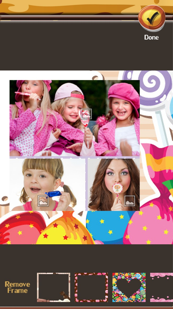Candy Photo Collage Editor