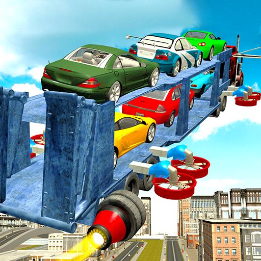 Flying Car Transport Truck 3D