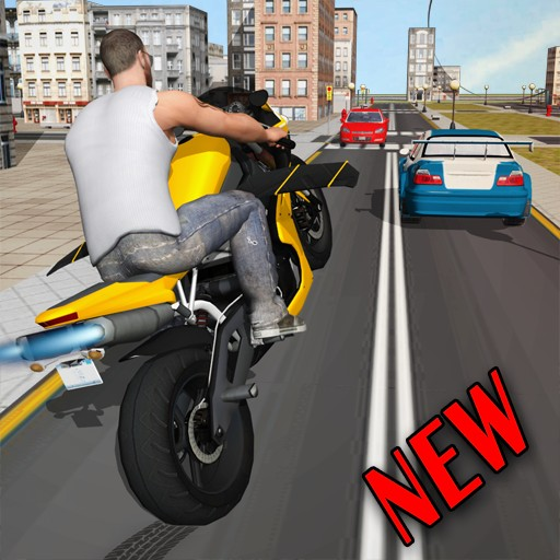 Flying Moto Racer 3d