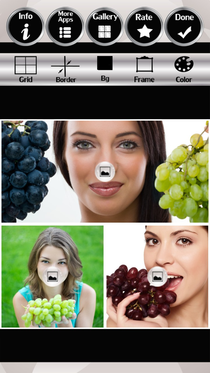 Grapes Photo Collage