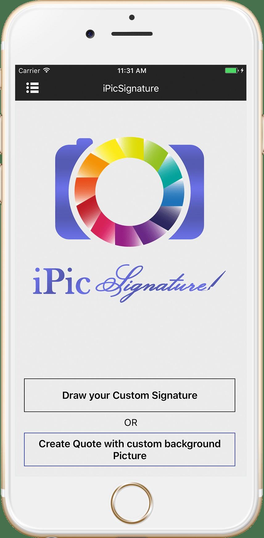 iPicSignature