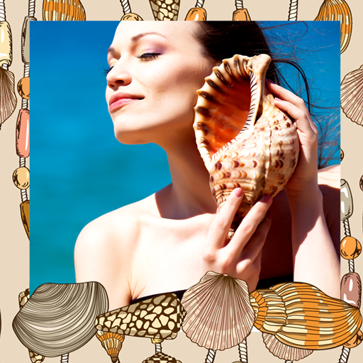 Seashells Photo Collage