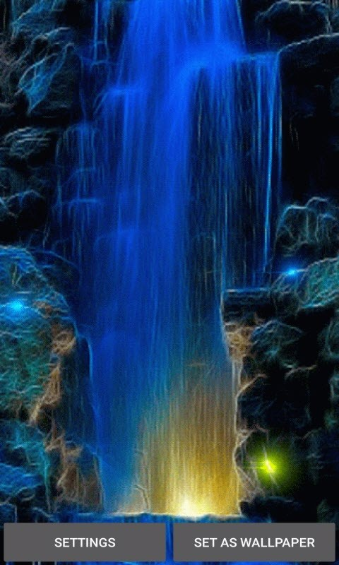Abstract Blue Fall LWP