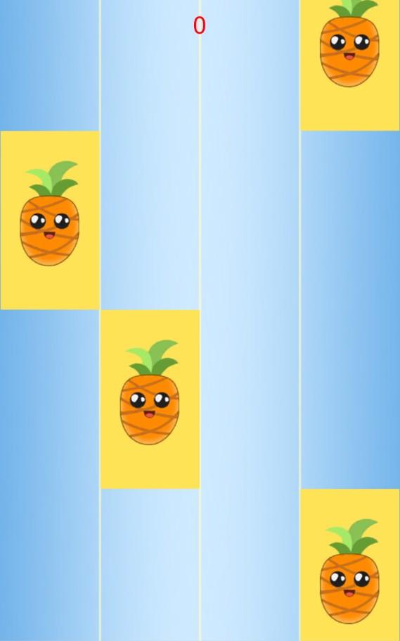 Piano: Pineapple Pen tiles