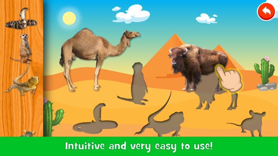 Animals Puzzle & Sounds - Kids