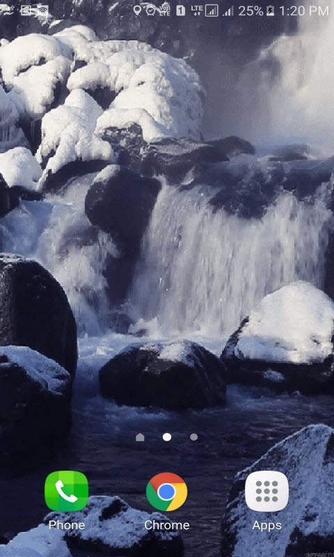 Cold Waterfall LWP