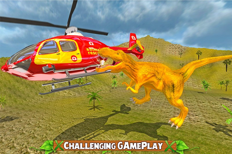 Dinosaur Transport Heli Rescue