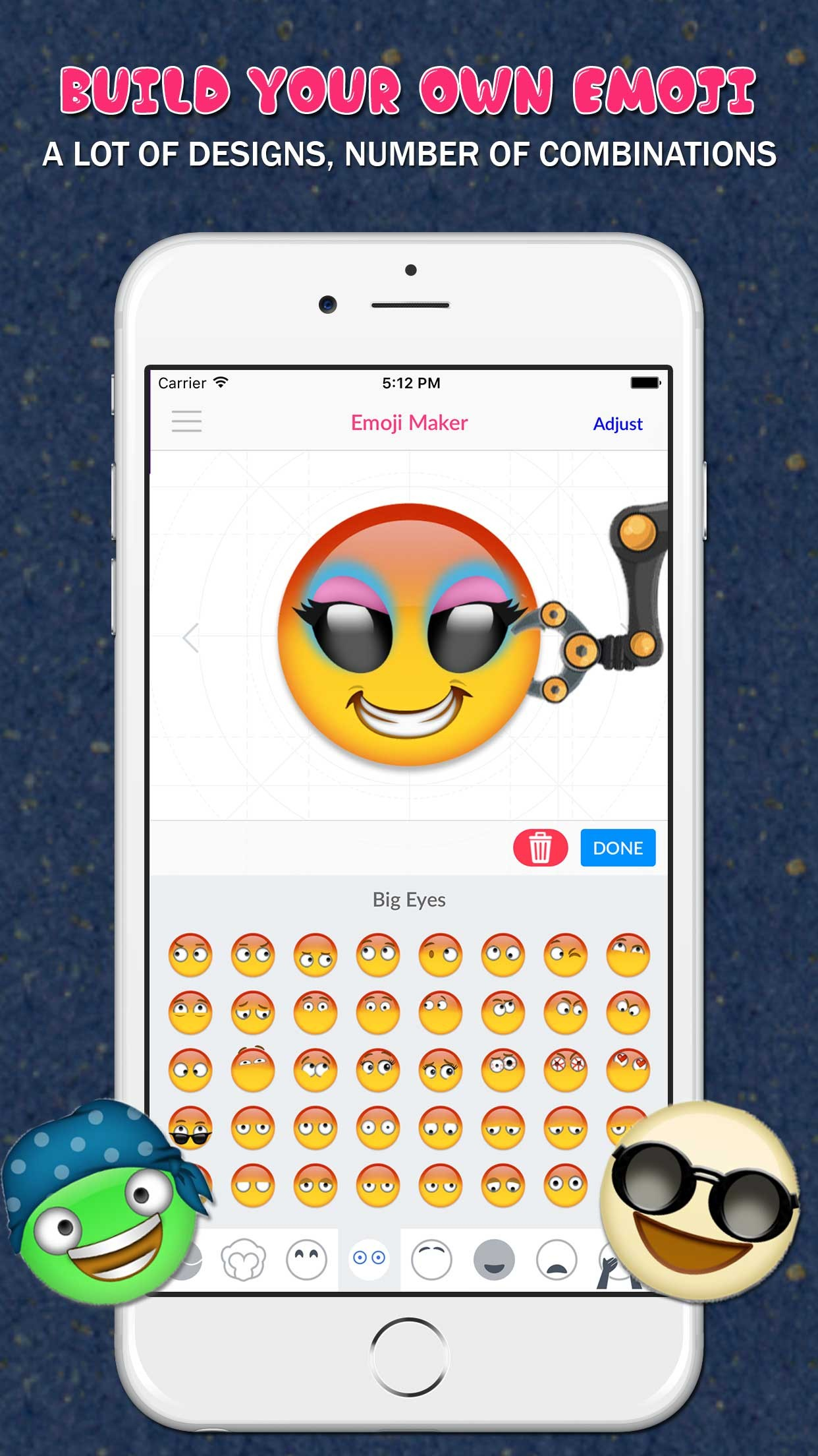 Emoji maker create your own emoji for Free blueprint maker app