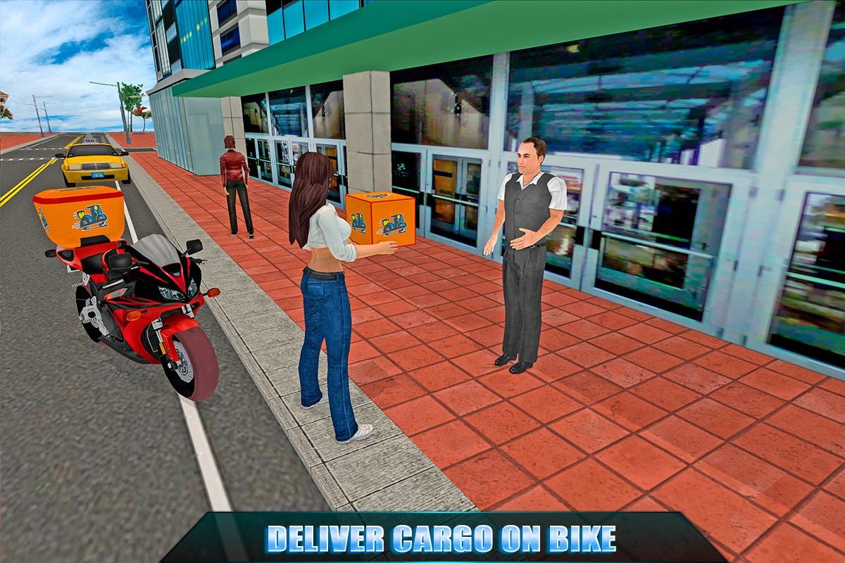 Biker Girl Cargo Delivery