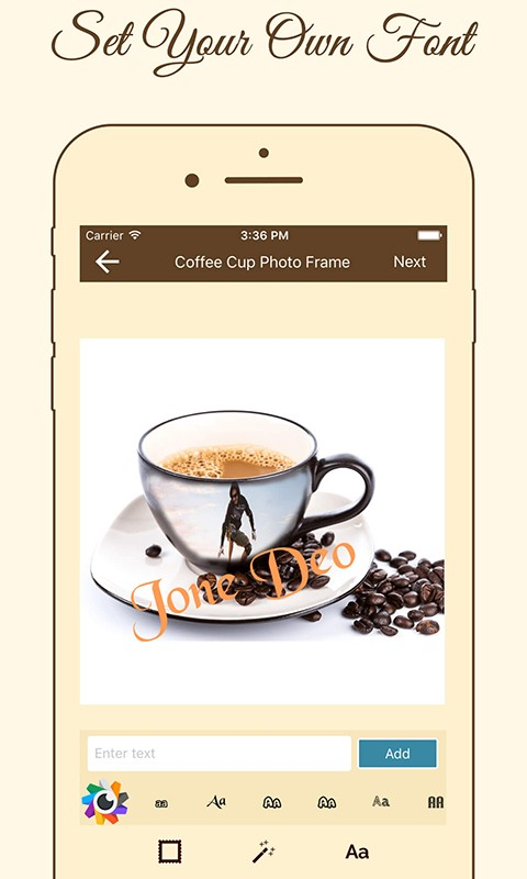 Coffee Cup Photo Frame Maker