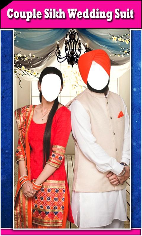 Couple Sikh Wedding Suit