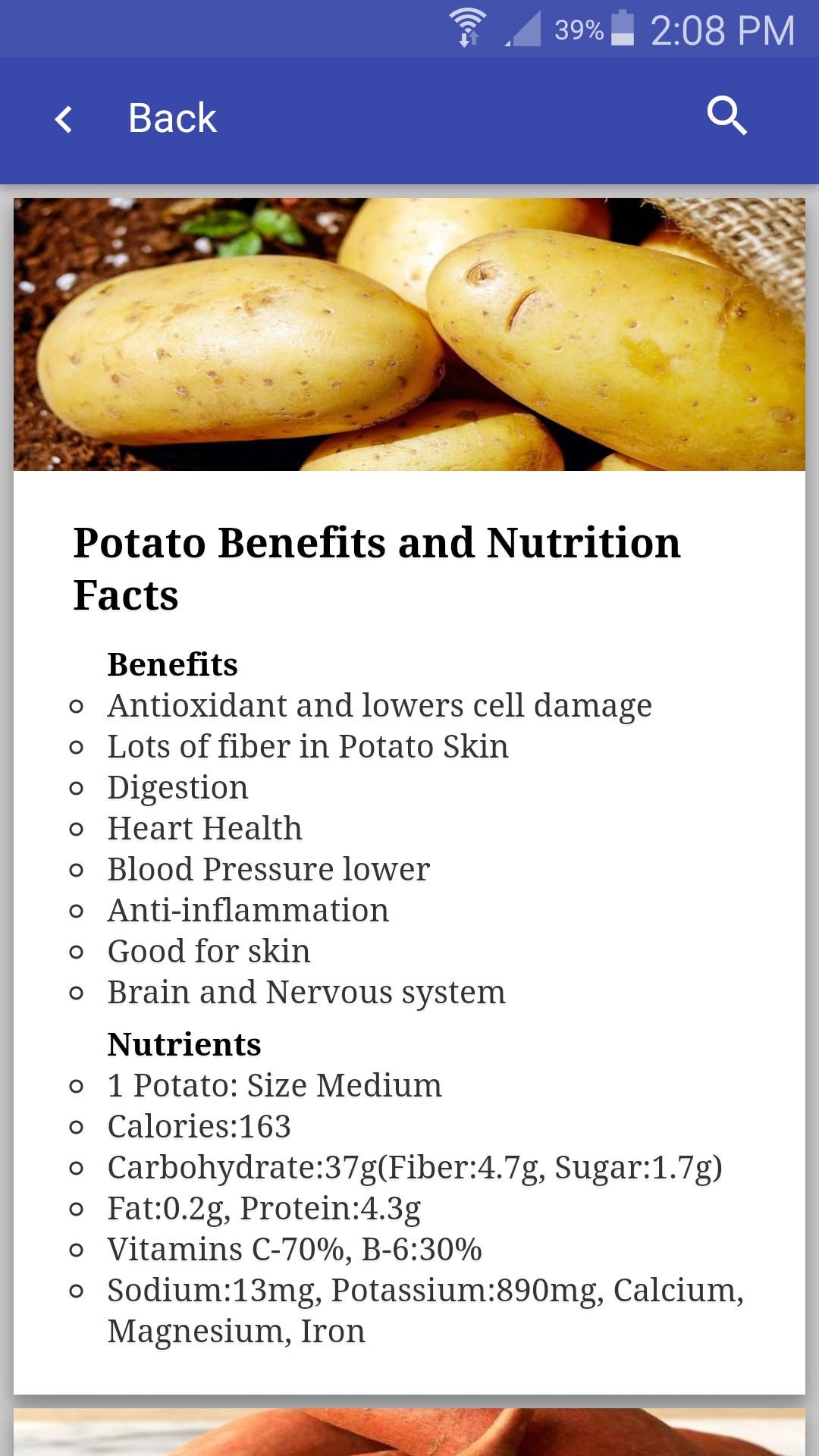 Health Nutrition App