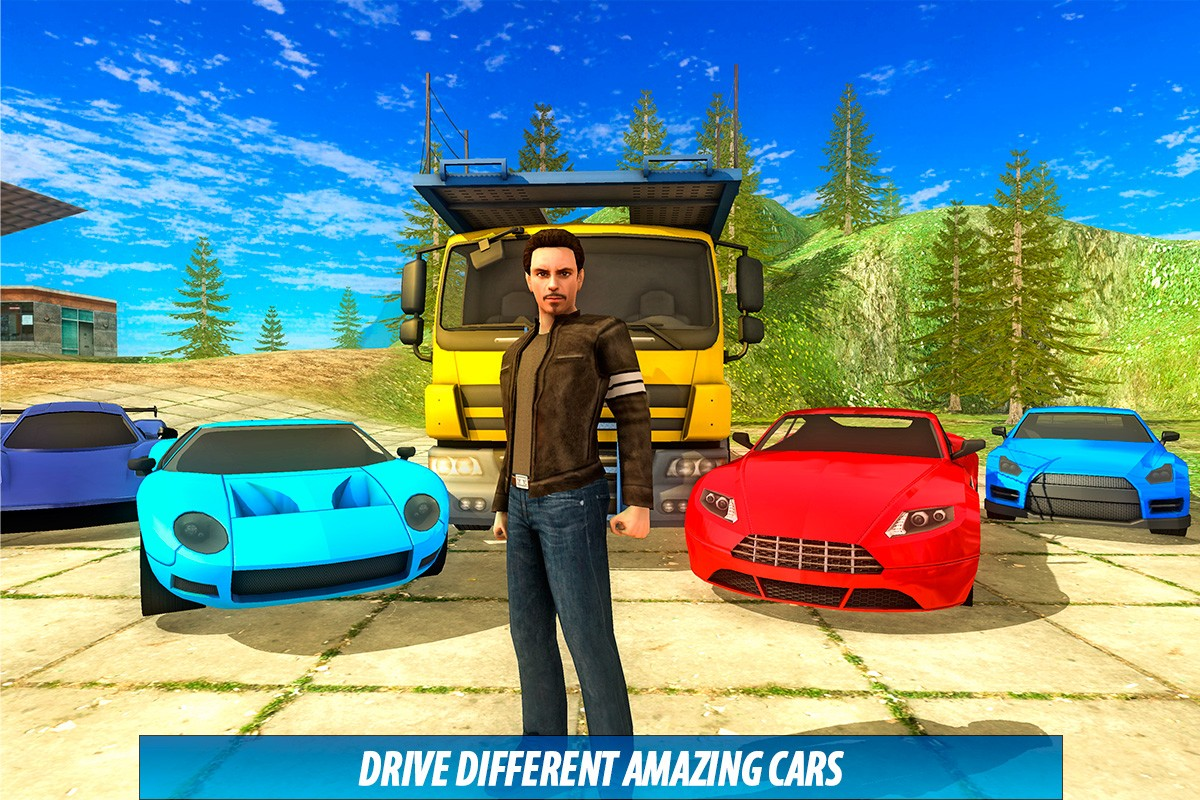 John: Car Transporter Truck 3D