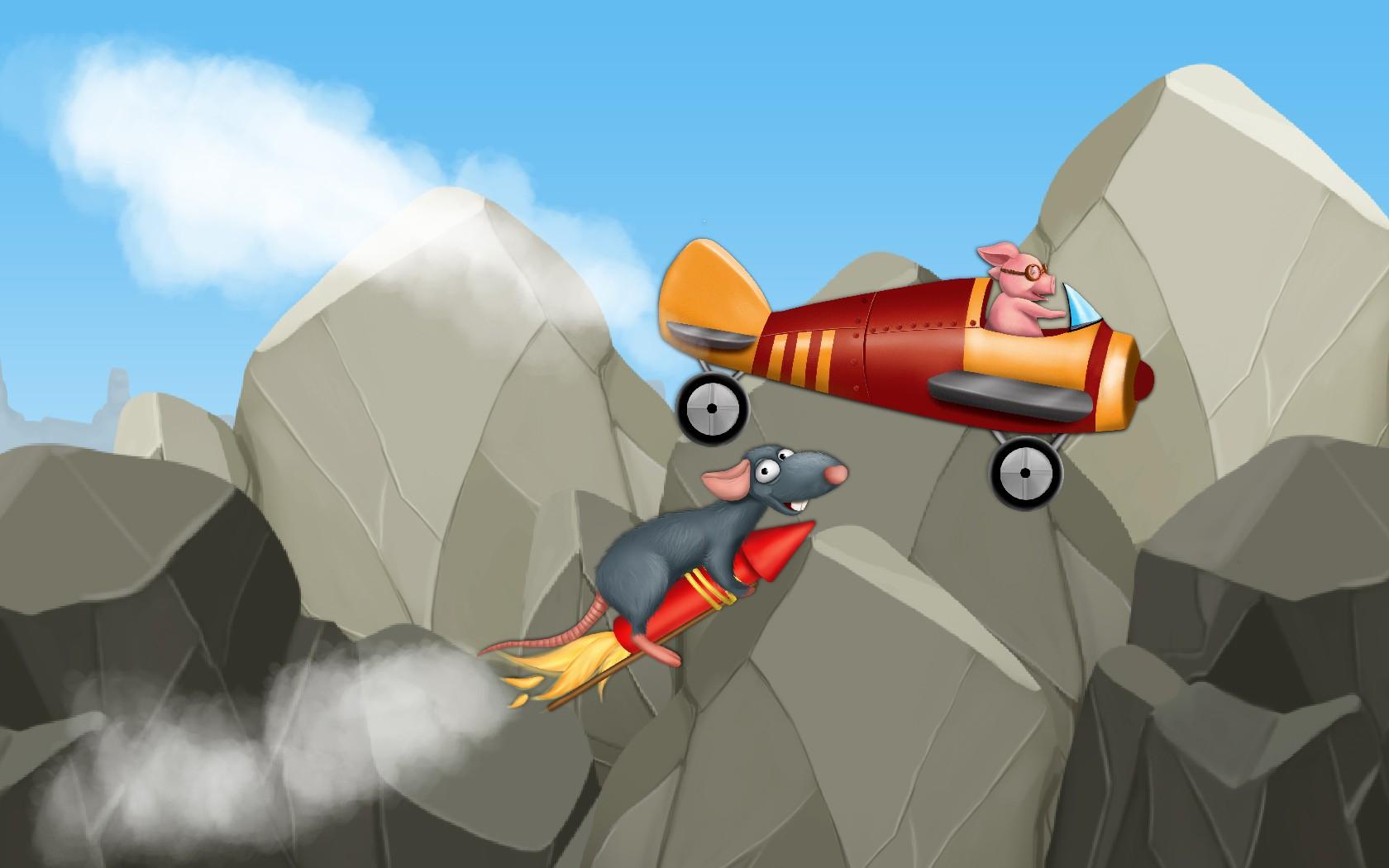 Kid airplane game