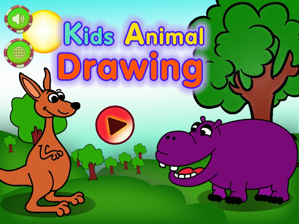 Kids Animal Drawings