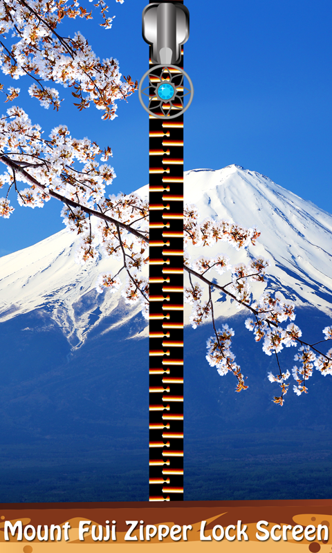 Mount Fuji Zipper Lock Screen