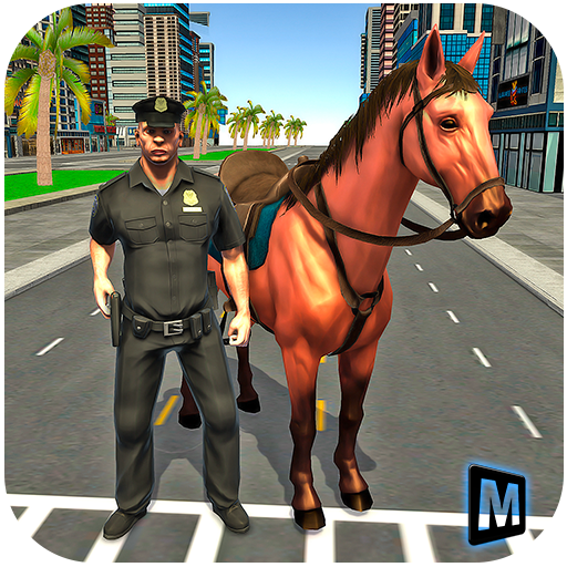 Mounted Horse Police Chase