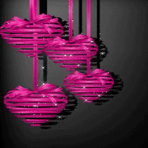 Purple Hearts Love LWP