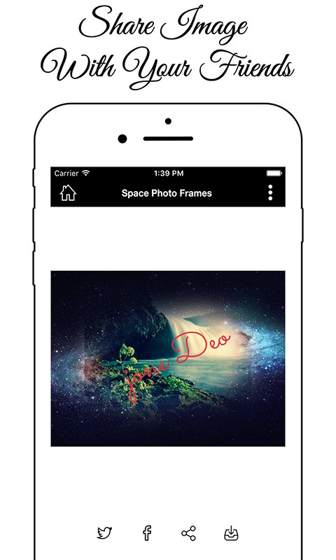 Space Photo Frame Editor