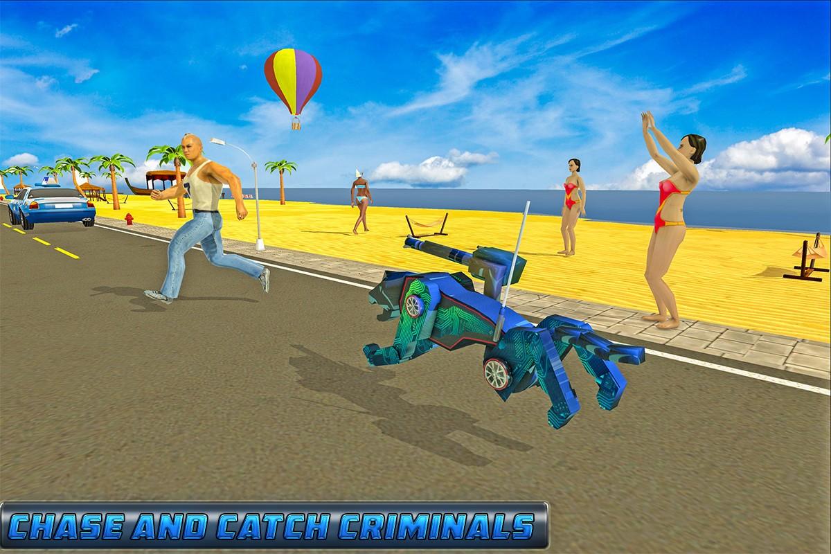 Superhero Robot Dog Battle