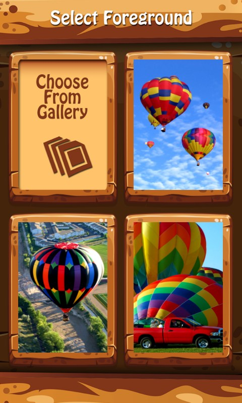 Air Balloon Zipper Lock Screen