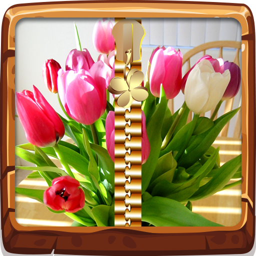 Beautiful Tulips Zipper Lock