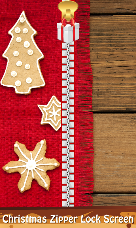 Christmas Zipper Lock Screen