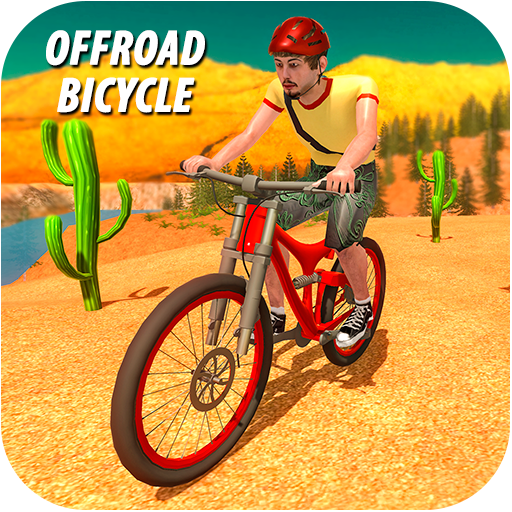 Downhill Offroad Bicycle Rider