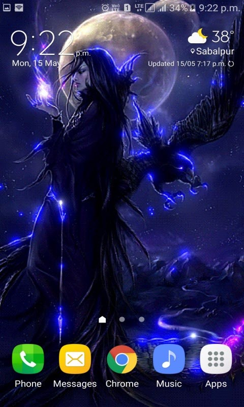Night Witch Live Wallpaper