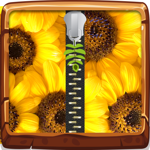 Sunflower Zipper Lock Screen