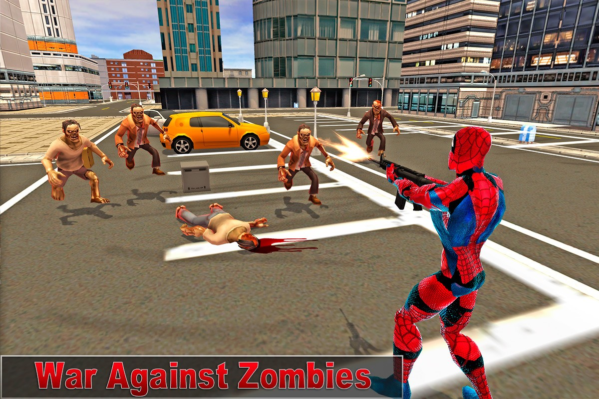 Super Spider Zombie Battle