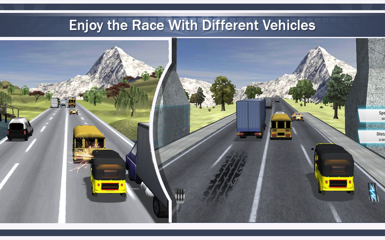 Tuk Tuk Auto Rickshaw Racing