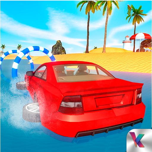 Water Surfer Beach Car Racing