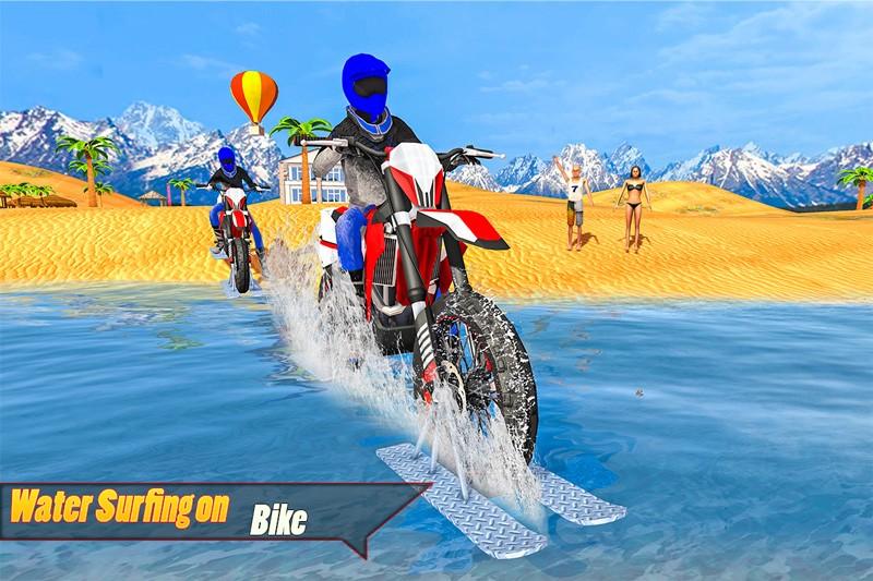 Water Surfer Bike Race