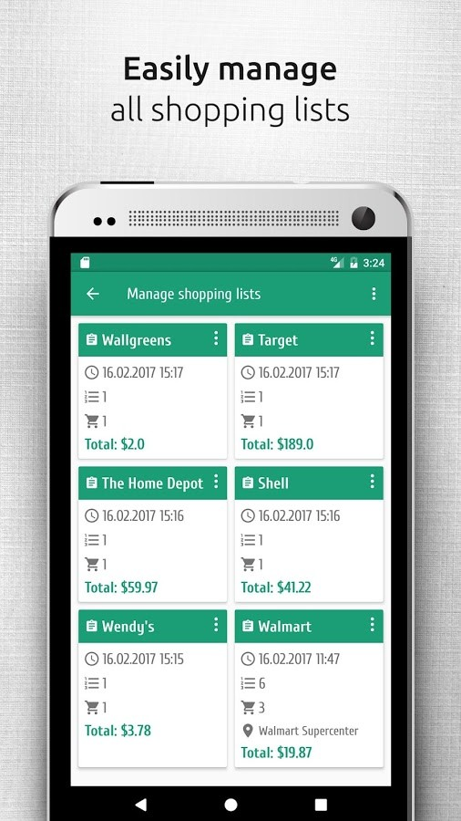 Shopsly - shopping list