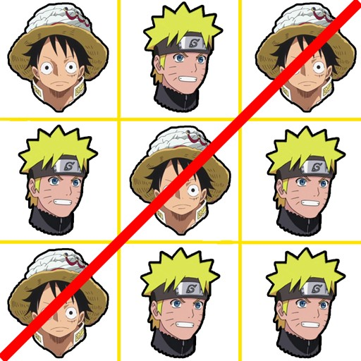 Tic Tac Toe - Luffy Vs Naruto