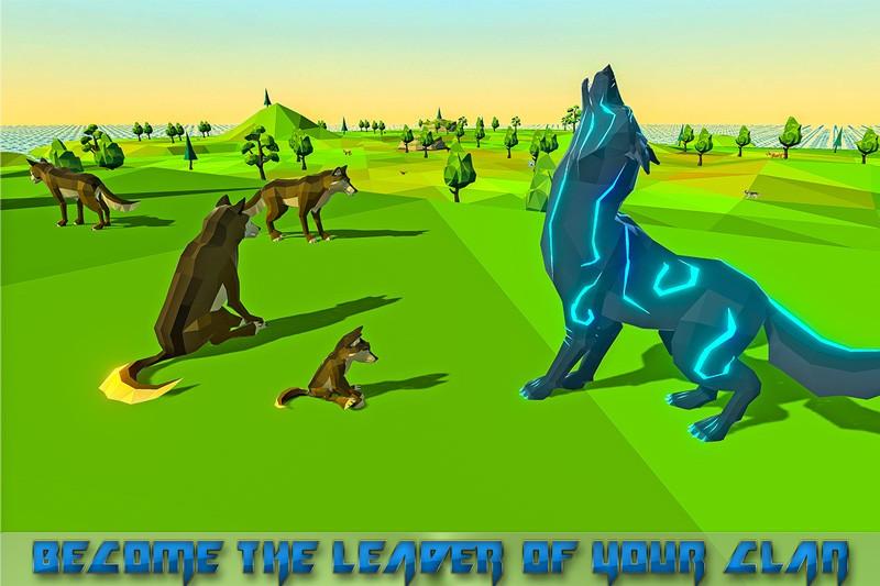 Wolf Simulator Fantasy Jungle