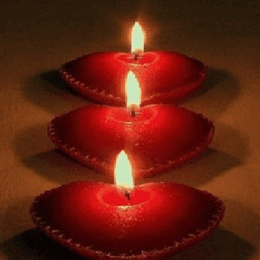 Red Heart Candles LWP