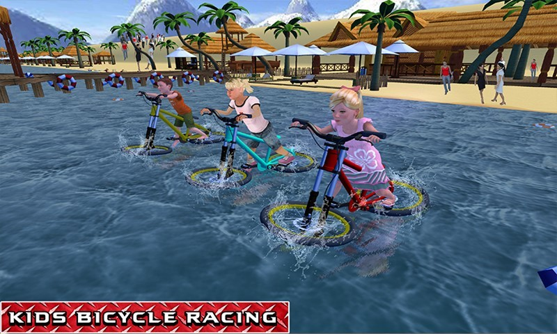 Kids Bicycle Water Surfer Racing