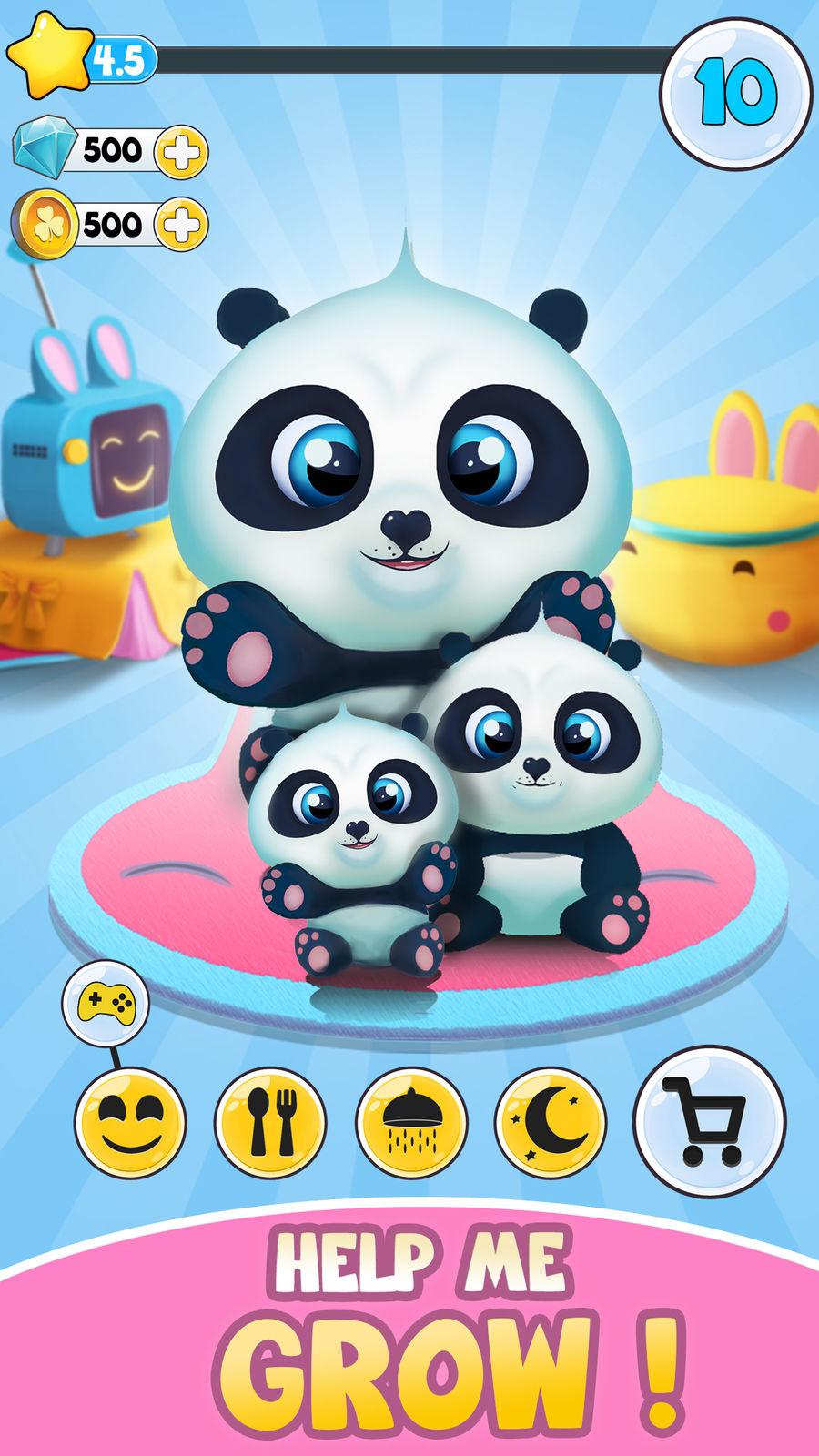 Pu - Babies panda bears virtual pet care game