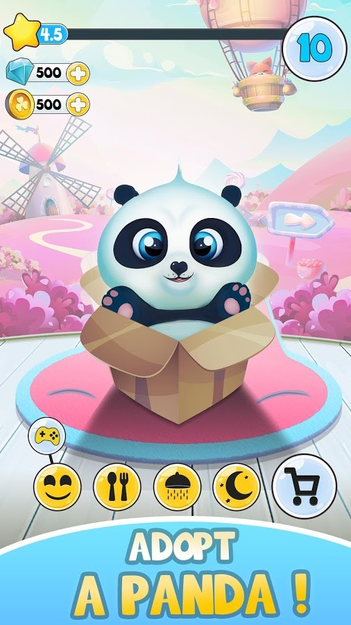 Pu - Cute giant panda bear, pet care game