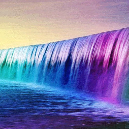 Purple Waterfalll LWP