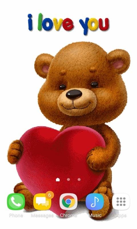 Teddy Heart Live Wallpaper