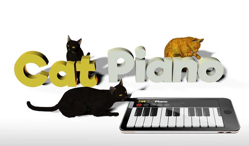 Cat Piano Keyboard play