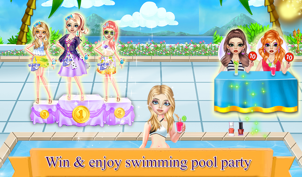Girls Swimming Pool Party Bash