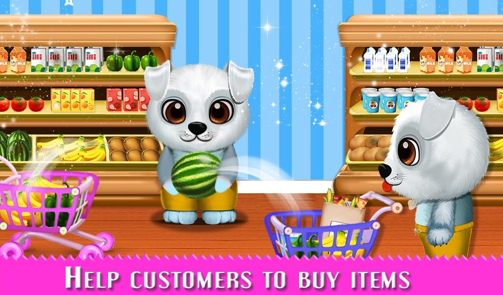 Puppy Supermarket Fun