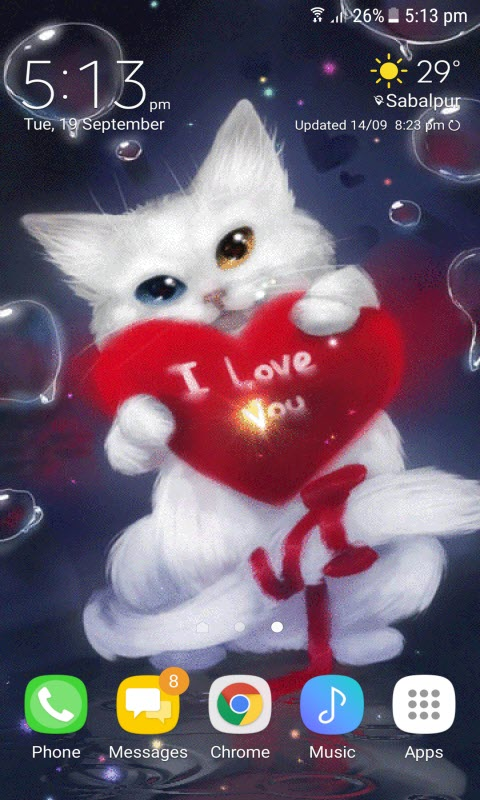 Red Heart Cat LWP