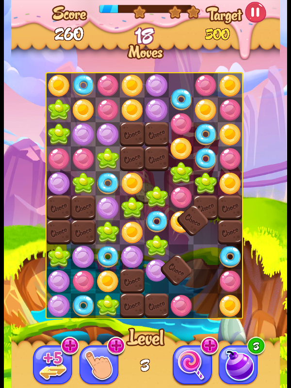 Candy Puzzle Story